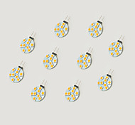 1.5W Luci LED Bi-pin 9 SMD 5050 148 lm Bianco caldo Bianco V 10 pezzi