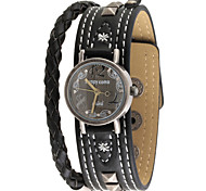 Women's Fashion Watch Quartz Leather Band Black