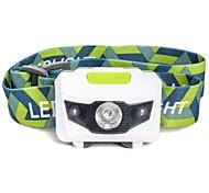 Mini Ultra-light Portable LED Headlamp Headlight Hands-free Flashlight 1 White 2 Red LED For 3 AAA Batteries