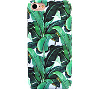 For Apple iPhone 7 7 Plus 6S 6 Plus Case Cover Green Leaves Pattern Decal Skin Care Touch PC Material Phone Case