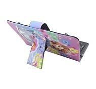 iPad Case with Keyboard USB English Version 7-8 inch Universal Cartoon  PU leather Case For IPAD Mini123 Mini4