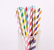 25PCS Wedding Club Bar Drinkware PP Juice Milk Straws (Random Color)