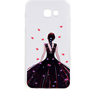 For Samsung Galaxy A5(2017) A3(2017) Phone Case Black Dress Girl Pattern Soft TPU Material Phone Case