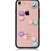 Case for apple iphone 7 7 plus iphone 6s 6 плюс чехол для обложки куки-шаблона с акриловыми футлярами