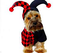 Собака Костюмы Плащи Одежда для собак Очаровательный Косплей На каждый день Хэллоуин геометрический сетка