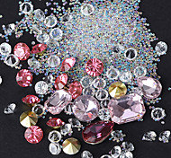 Shaped Color White Diamond Beads Sharp Bottom Drill Elf Glass Beads Mixed