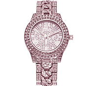 Women's Diamond Dial Diamante Alloy Band Quartz Wrist Watch (Assorted Colors) Cool Watches Unique Watches