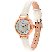 Women's Fashion Watch Quartz Water Resistant / Water Proof Leather Band Casual Black White Red Brown Gold