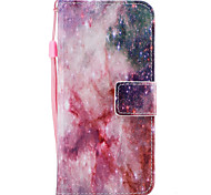 For Samsung Galaxy S8 S8 Plus Case Cover Stars Pattern Painted PU Skin Material Card Stent Wallet Phone Case S7 S7 Edge