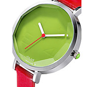 Women's Fashion Watch Japanese Quartz Water Resistant / Water Proof Leather Band Black White Red Brown