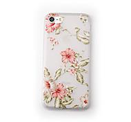 Para Apple iphone 7 mais 7 estojo de capa fosco padrão transparente capa traseira caso flor suave tpu para iphone 6s mais 6 mais 6 6s