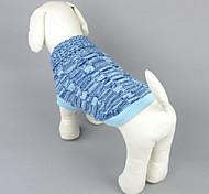 Собака Свитера Одежда для собак На каждый день Сплошной цвет Пурпурный Синий