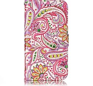 For Samsung Galaxy A3 A5 (2017) Case Cover Pepper Flowers Pattern Shine Relief PU Material Card Stent Wallet Phone Case
