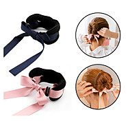 1pcs Magic Tools Foam Sponge Device Quick Messy Donut Bun Hairstyle Girl Hair Bows Band Accessories Silk Headband