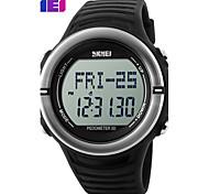Men's Sport Watch Digital Watch Digital Plastic Band Black Green Yellow