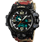 SKMEI Муж. Спортивные часы Армейские часы Модные часы Наручные часы электронные часы Японский КварцевыйLED Календарь Секундомер Защита от