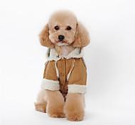 Собака Толстовки Одежда для собак На каждый день Английский Кофейный Коричневый Красный Синий Розовый