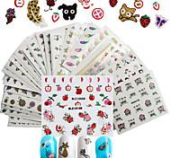 50 Стикер искусства ногтя Компоненты для самостоятельного изготовления Стикер Женская униформа 3-D макияж Косметические Ногтевой дизайн