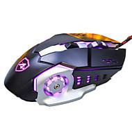 Ajazz aj110 6keys 3200dpi usb backlight, отягчающая механическая мышь с кабелем 180 см