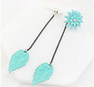 Drop Earrings New Mismatching Asymmetry Earrings Personalized Flower Leaf Shape For Women Daily Party Gift Movie  Jewelry