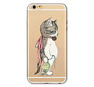 Чехол для iphone 7 плюс 7 крышка прозрачный узор задняя крышка чехол кошки поймать мышей мягкий tpu для iphone 6s плюс 6 плюс 6s 6 se 5s