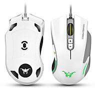 Cw10 4800 точек на дюйм с проводными игровыми мышами мыши 7 кнопок дизайн 6 дышащих светодиодных цветов, изменяющих высокую точность для