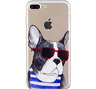 Case For iPhone 7 Plus 7 Summer Sunglasses Dog Pattern Soft TPU Material Phone Case for 6S Plus 6Plus 6S 6 SE 5S 5