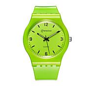 Women's Sport Watch Fashion Watch Quartz Water Resistant / Water Proof Rubber Band Blue Green