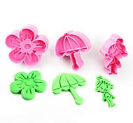 3 Файлы cookie Цветы Торты Пластик Для детской Своими руками