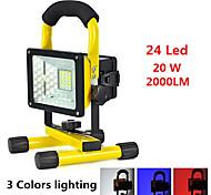LED подсветка Ручные фонарики LED 2000 lumens Люмен 3 Режим LED Батарейки не входят в комплект Будильник Ударопрочный Очень легкие