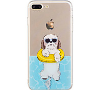 Para iphone 7plus 7 caixa de telefone material tpu filhote de cachorro padrão caixa de telefone pintada 6s mais 6plus 6s 6 se 5s 5