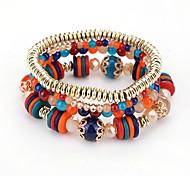 Women's Strand Bracelet Fashion Bohemian Plastics Round Jewelry For Birthday Party/ Evening Dailywear