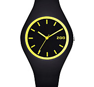 Women's Men's Fashion Watch Quartz Water Resistant / Water Proof Noctilucent Silicone Band Black Green Pink