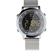 Damen Herrn Smart Uhr digital Legierung Band Silber Orange