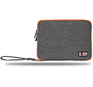 Storage Bags for Power Supply Flash Drive Hard Drive Power Bank Mouse Headphone Earphone Solid Color Nylon Material