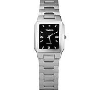 Men's Fashion Watch Quartz Stainless Steel Band Silver Gold