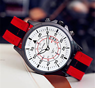 Men's Fashion Watch Quartz Leather Band Red