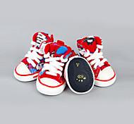 Собака Ботинки и сапоги На каждый день Спорт Цветовые блоки Красный Зеленый Синий