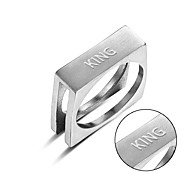 New polished stainless steel Metrosexual ring lettering trade gaming spot supply