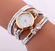 wholesale stylish lady weave leather watch rope braided crystal clock designer wrap around watch with diamond for lady