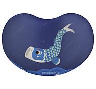Exco msp020 кит летать противоскользящий дно ткань можно мыть 10,5 * 7 * 2 см коврик для мыши
