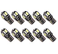 10pcs t10 8 smd 5630 led canbus ошибка бесплатная автоматическая огни парковки w5w 8smd привели автомобиль клин хвост стороны лампочки