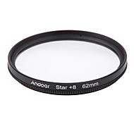 Et filtre de filtre de 62 mm uv cpl étoile Kit de filtre à 8 points avec étui pour appareil photo canon nikon sony dslr
