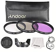 Andoer 55mm filter kit (uv cpl fld) нейлон перенос сумка объектив колпачок объектив колпачок держатель объектив капот объектив чистящая