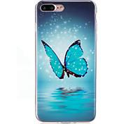 Чехол для Apple iphone 7 плюс 7case подсветка крышки в темноте imd шаблон задняя крышка чехол бабочка мягкая tpu для iphone 6s плюс 6 5s