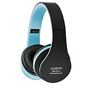 Andoer складные наушники bluetooth стерео bluetooth 3.0 супер басовые наушники 3,5 мм проводной наушник hands-free w / mic белый с красным