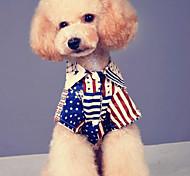 Собака Футболка Одежда для собак На каждый день Американский / США