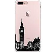 Назначение iPhone X iPhone 8 Чехлы панели Прозрачный С узором Задняя крышка Кейс для Вид на город Мягкий Термопластик для Apple iPhone X