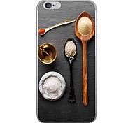 Случай для яблока iphone 7 7 плюс крышка случая приправа картины hd покрасили более толстый материал tpu мягкого случая случая телефона