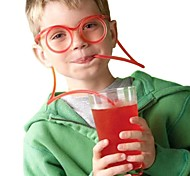 2шт очки соломы смешные мягкие очки соломы уникальные гибкие питьевой трубки детей соломы бар accesso (случайный цвет)